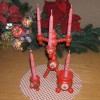 Swedish Christmas candle holder set
